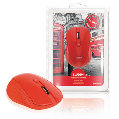 Sweex Drahtlose Maus London Rot