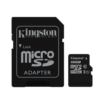 Kingston - 16GB - Class 10 - microSDHC inkl. Adapter