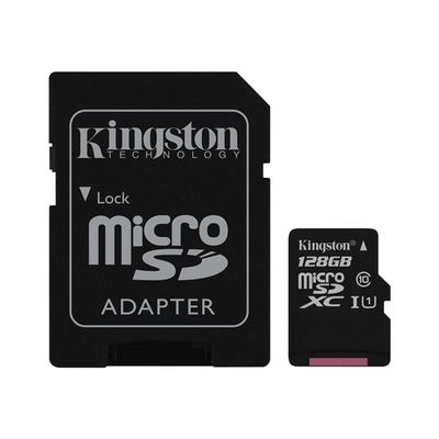 Kingston - 128GB - Class 10 - microSDHC inkl. Adapter