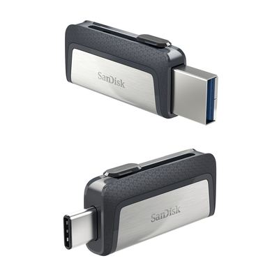 SanDisk Ultra Dual - USB 3.0 Stick - Type-A & Type-C 16GB